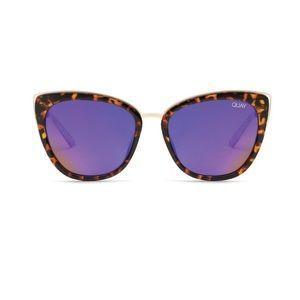 QUAY Tortoise Honey Cat Eye Sunglasses